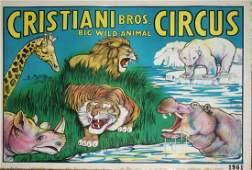 Cristiani Bros Big Wild-Animal Circus. Features polar