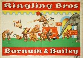 272 Large K Line Ringling Bros Circus Set Lot 272
