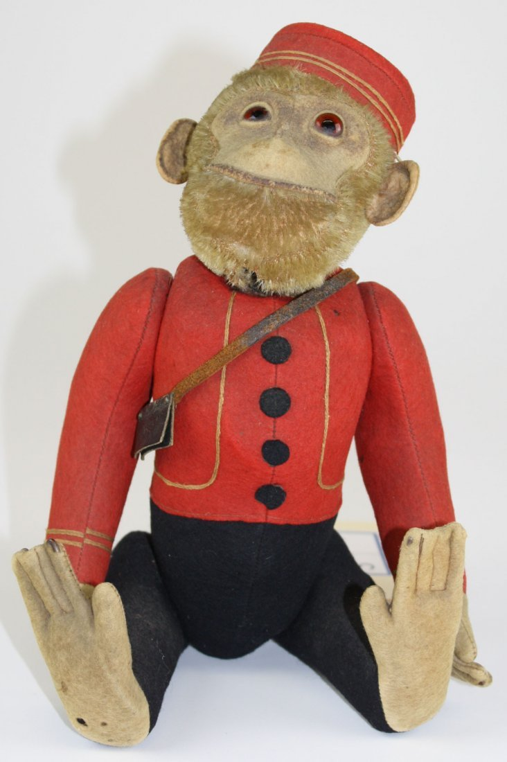 ca 1920 Schuco bellhop yes/ no monkey, jtd arms, legs,