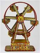 J Chein Ferris Wheel tin litho toy working ht 165