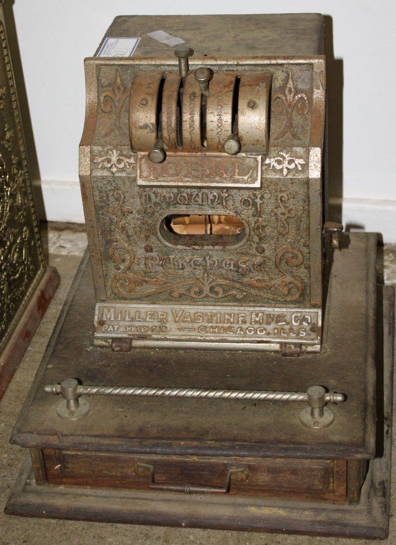 Ideal Iron cash register Miller Vastine MFG Co as found