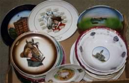 Vt souvenir china plates  bowls incl calendar plates