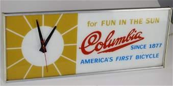"""Columbia bicycle service clock """" For Fun in the Sun"""""""