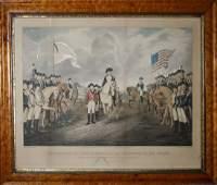 N Currier lg folio litho Surrender of Lord Cornwallis
