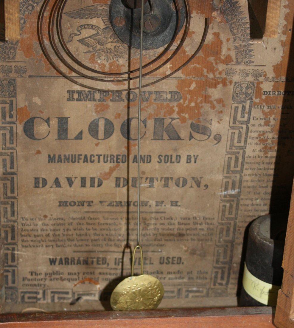 David Dutton Mount Vernon, NH wooden works OG clock- - 2