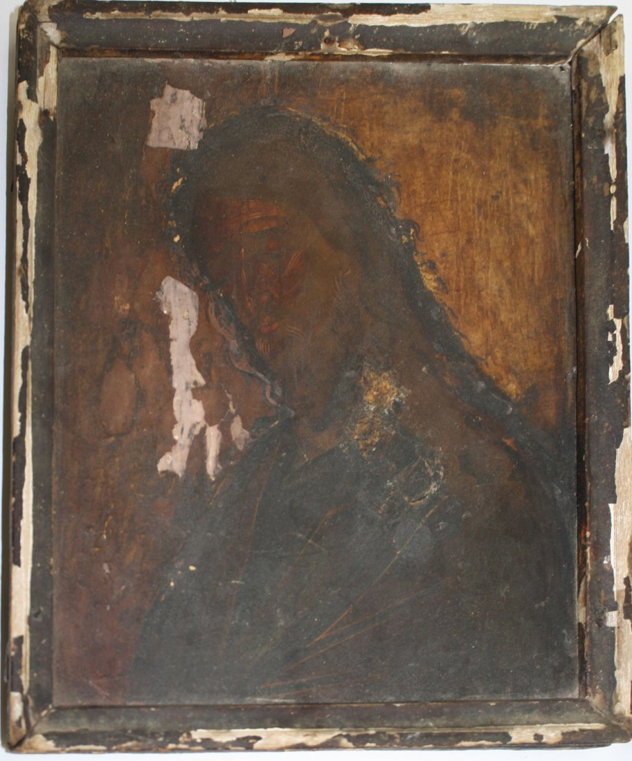 18th c Greek icons painted on gessoed wooden panels- - 3