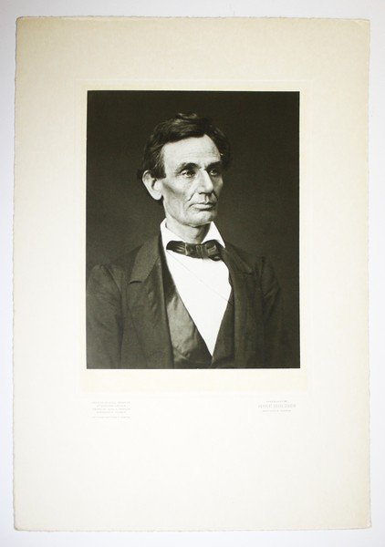 Abraham Lincoln silver print photo from original 1860