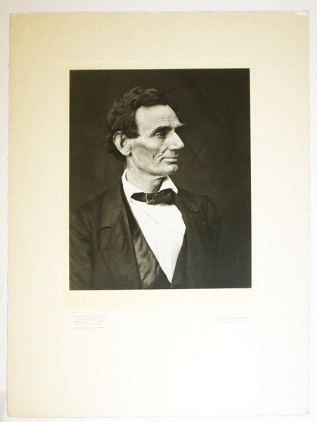 Abraham Lincoln silver print profile photo from