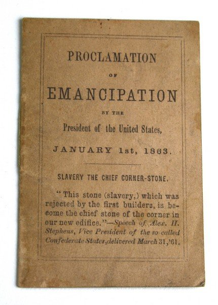 Abraham Lincoln Civil War 1863 miniature Proclamation