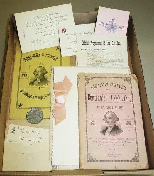 1889 George Washington Centennial Celebration programs,