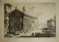 "18th c Giovanni Battista Piranesi etching ""Veduta del"