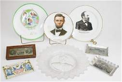 James Garfield Ironstone presidential campaign plate,