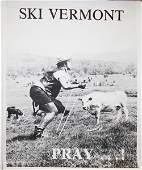 1980 Ski Vermont Pray black  white comic VT
