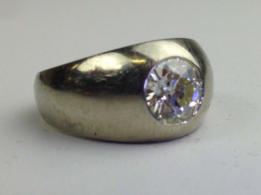 Men's 14k w.g. diamond ring having a 1.6 ct. brilliant