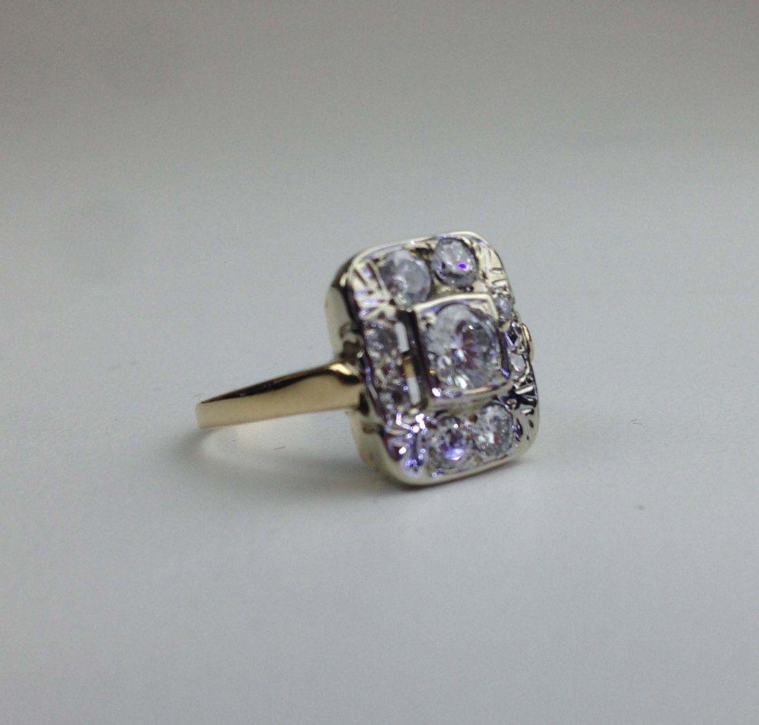 14k y.g. ladies multi diamond ring