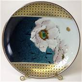 20th C Japanese floral decorated porcelain charger.