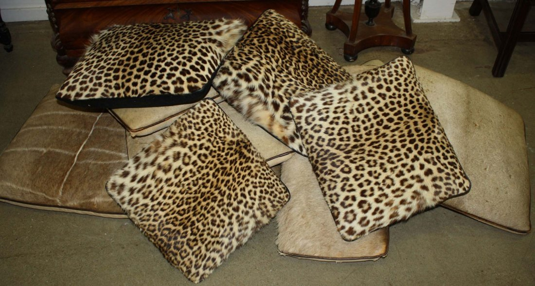 Vintage 1960's Taxidermy pillows, 11 pcs