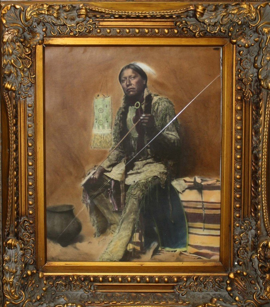 """19""""x23"""" colored photo of """"The Arrow Maker"""" signed Carl"""