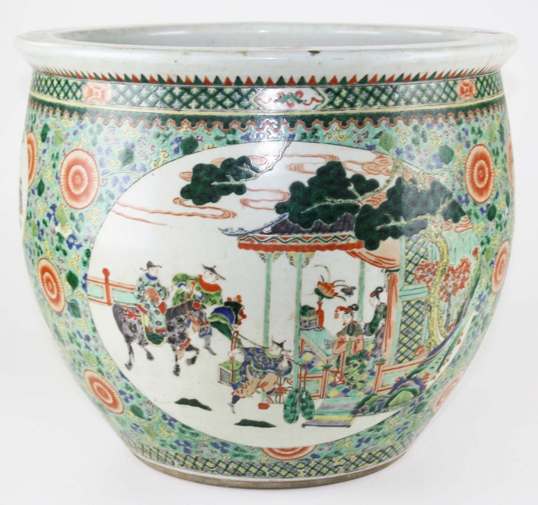 19th c Chinese famille rose jardiniere planter,