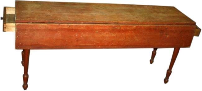 Randolph, VT drop leaf 2 drawer harvest table, pine in