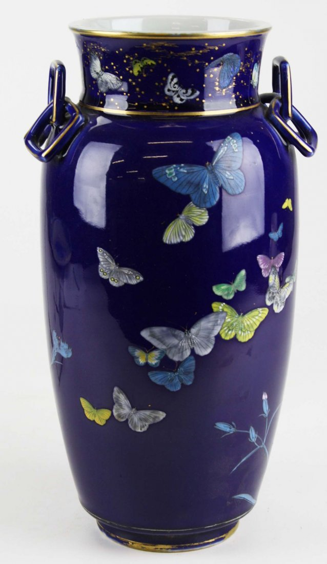 circa 1870 Japanese porcelain enamel decorated