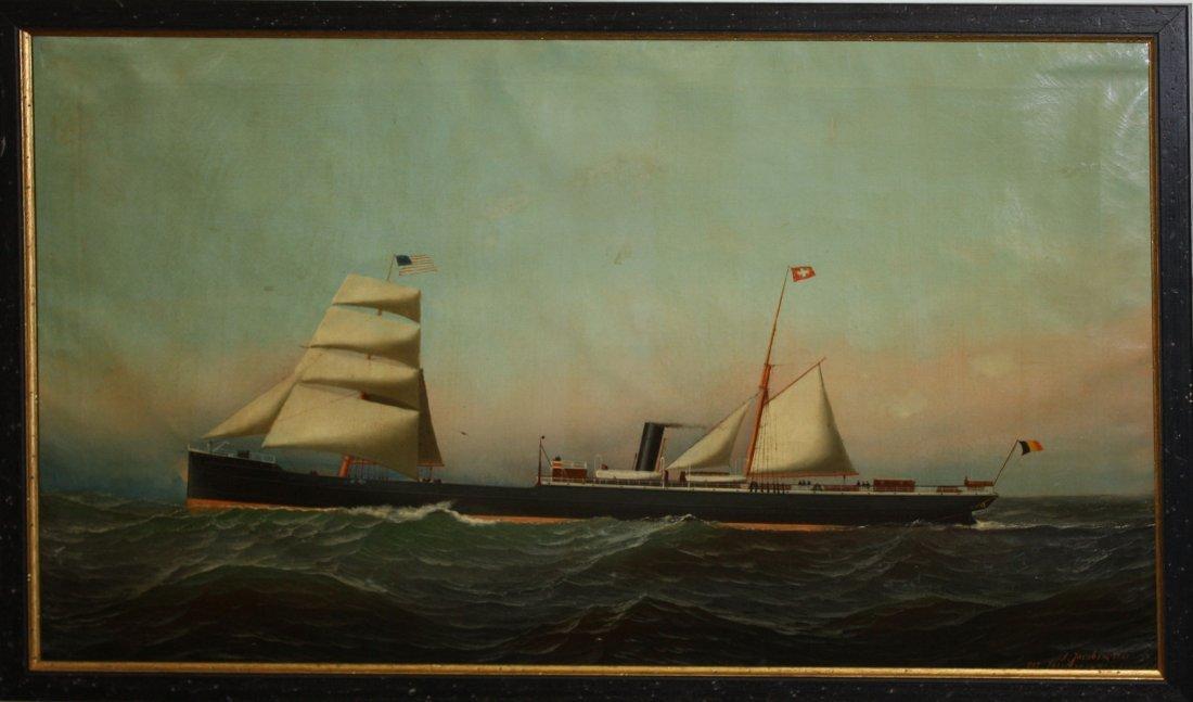 "Antonio Jacobsen (American 1850-1921) ""Henry Edye"" o/c"
