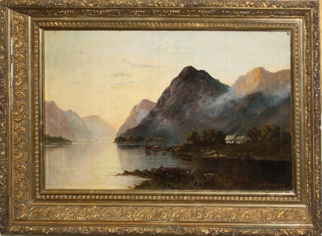 Jasper Francis Cropsey (American 1823-1900) Farm on the