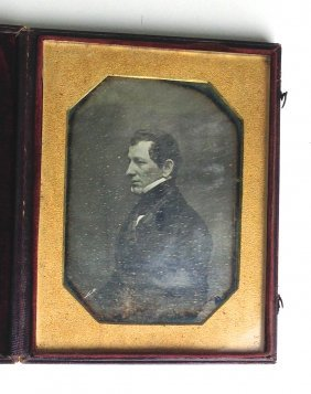 Half Plate Daguerreotype Of Nathaniel Silsbee