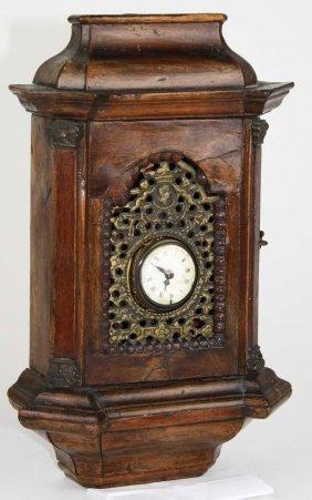 Ca 1750 Wm Wills- London Gilt Brass Verge Pocket Watch