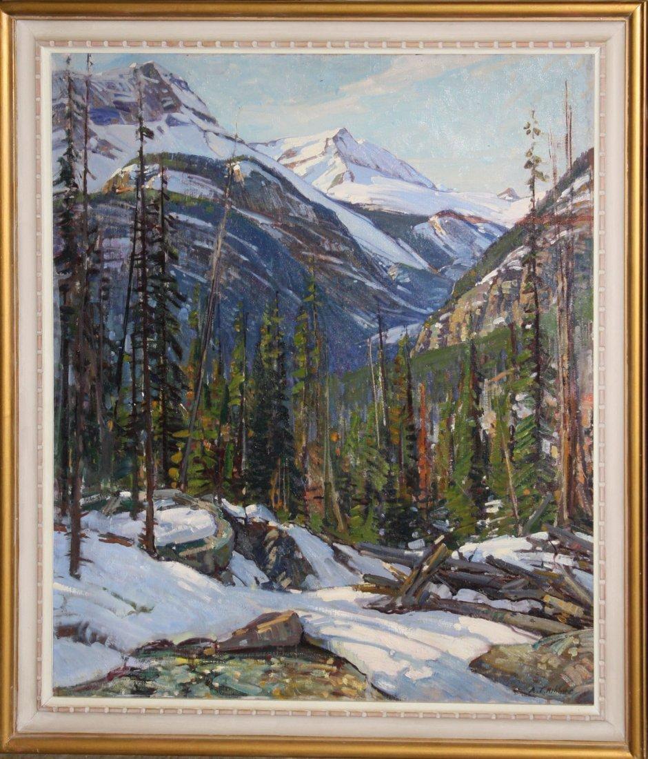 Aldro Hibbard (American 1886-1972) Canadian Rockies