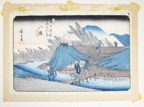 19th C Hiroshige I (1797-1858) Japanese Ukiyo-e