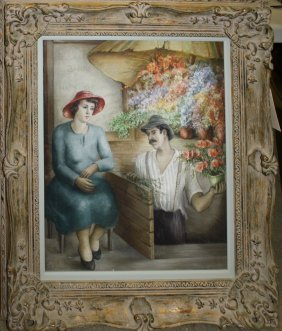 Bernita Kayser-arnold (american 1911-) The Flower Shop