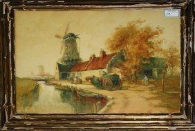 Francis William Van Vreeland (dutch 1879-1954) Canals