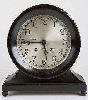 Chelsea Ship's Bell Shelf Clock, Ingraved Inscription,