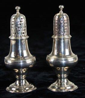 Pair Of Pepper Pots Hallmarked London, Hester Bateman,
