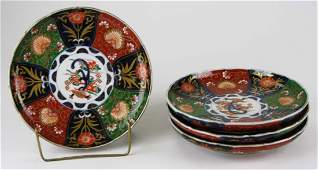 early 20th c set of 4 Japanese Imari plates dia 85