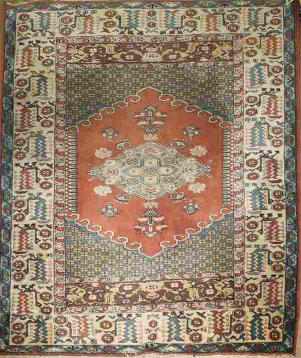"""Mid 20th c Persian area rug, 5' 2"""" x 7' 3"""""""