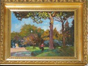 Michael Califano (american 1890-1972) Forest Landscape
