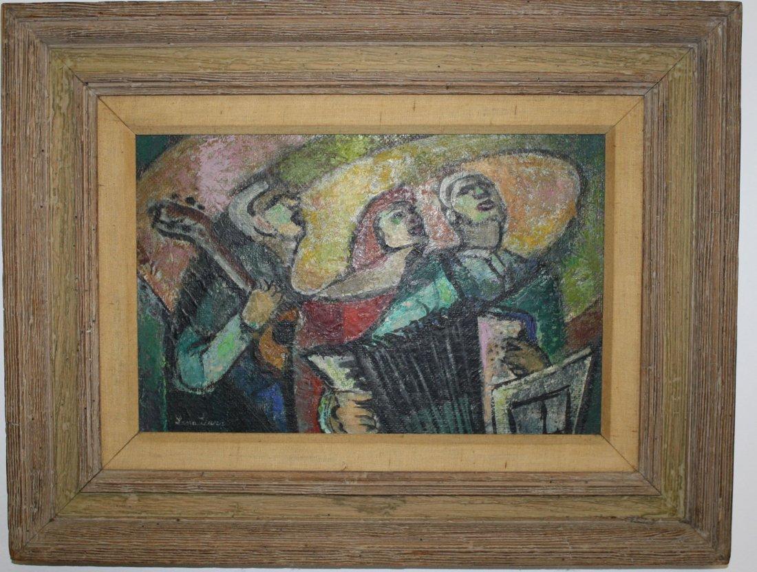Lena Gurr (Am 1897-1992) Three Musicians o/b signed