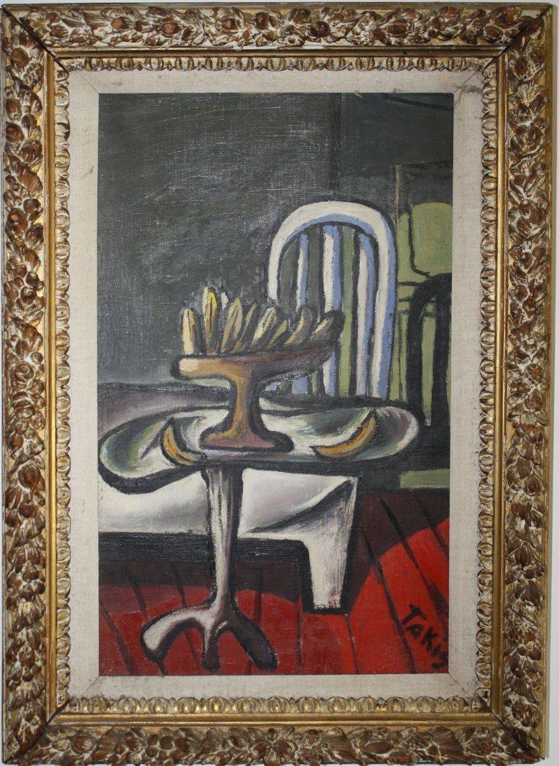 Vassilakis Takis (Greek 1925-) Interior with Bananas 19