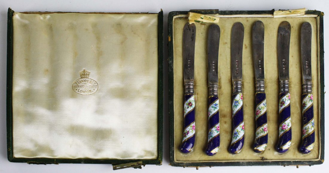 1901 set of 6 James Dixon & Sons Sheffield silver fruit