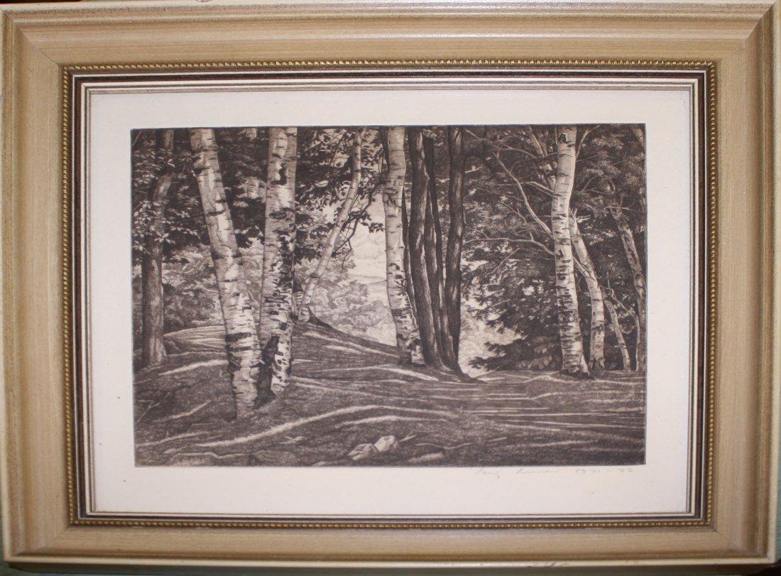 Luigi Lucioni (Vermont 1900-1988) Through the Birches