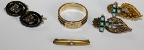 Lot Of Victorian Gold Jewelry Including Child's Gold
