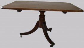 Regency Mahogany Tilt-top Breakfast Table With Pedestal