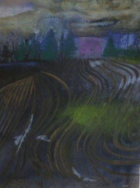 2 Bessie Boris (am 1917-1993) Pastel Landscapes, One