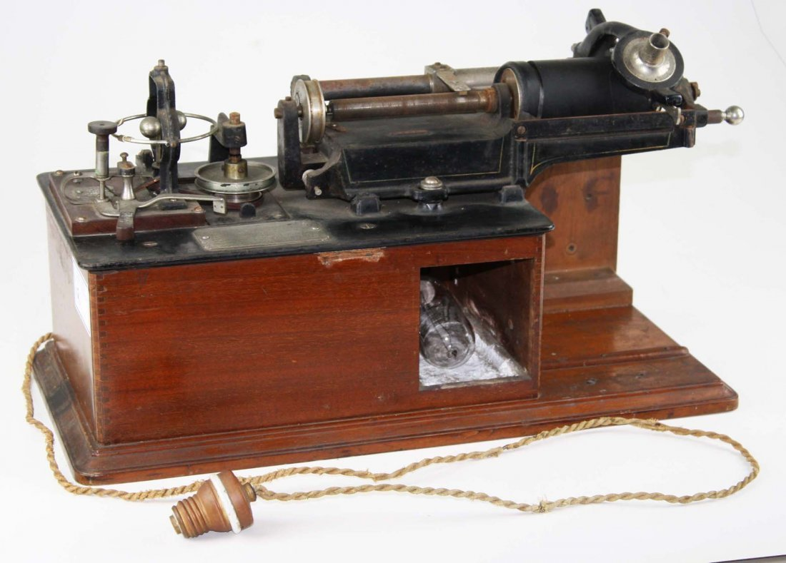 rare 1888 Edison Class E electric business cylinder