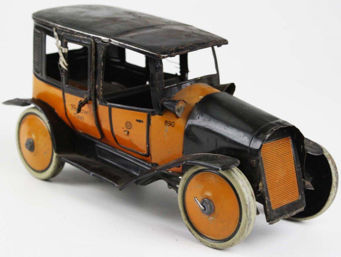 German Guntherman Yellow Taxi tin litho wind-up toy,