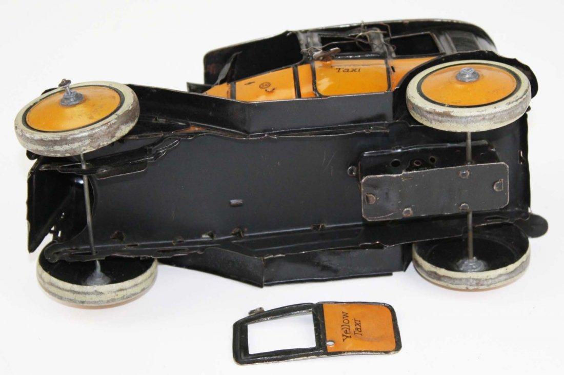 German Guntherman Yellow Taxi tin litho wind-up toy, - 5