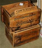 3 wooden advertising crates, Stanley Works wrought
