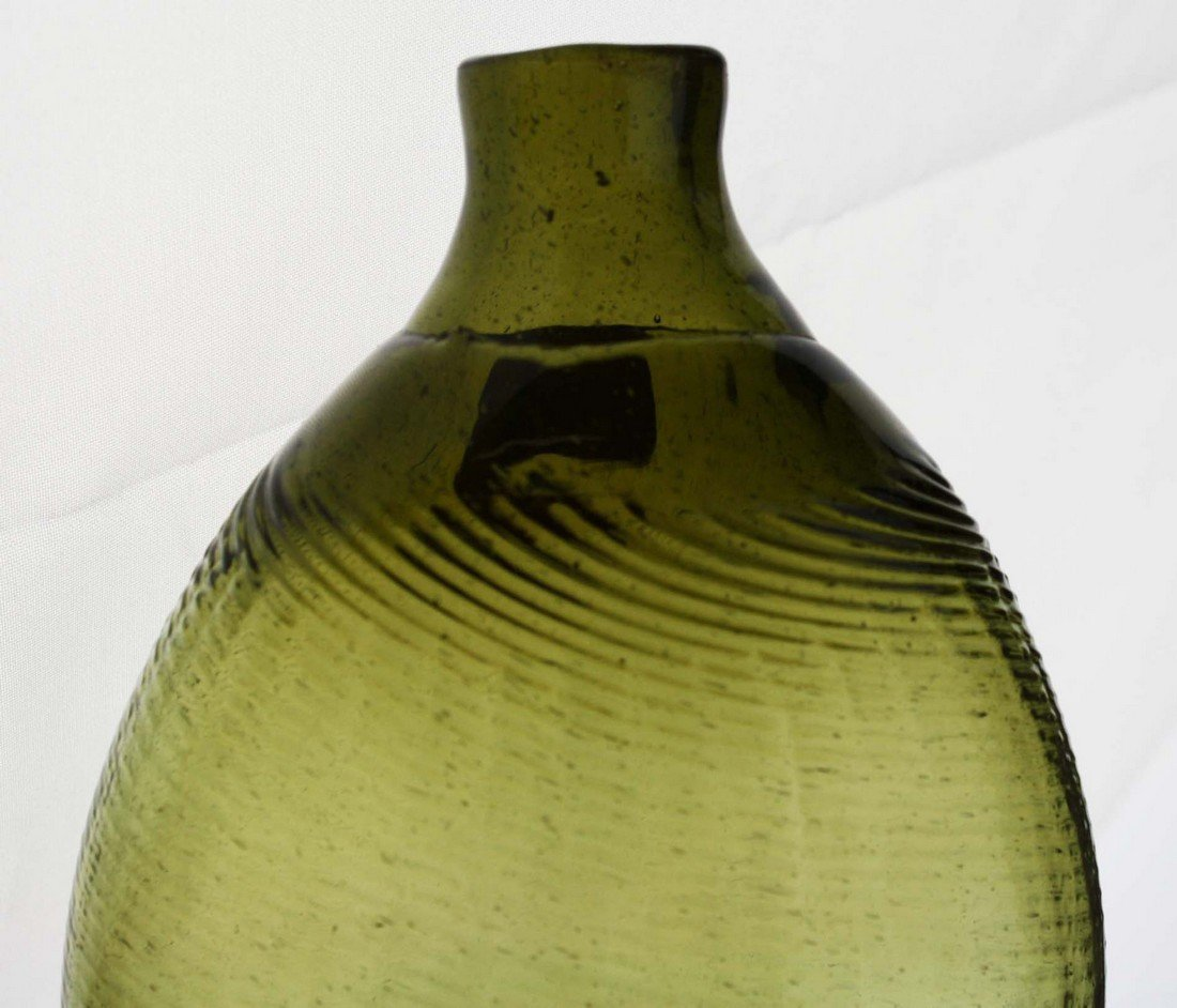 19th c  pattern-molded Pitkin-type half pint flask, 36 - 7